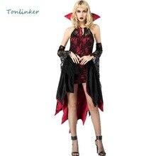 Halloween Evil Sexy Vampire Queen Cosplay Costumes Dark Night Terror   Halloween Women Gown Performance Uniform halloween sexy dark demon queen costumes cosplay women bat vampire cloak masquerade halloween dress costumes