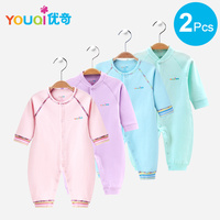 YOUQI 2 Pcs Quality Baby Boy Clothes Girl Rompers Unisex Newborn Toddler Infant Costumes Pajamas Clothing