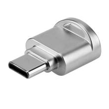 Мини из металла Тип-C Card Reader Портативный кольцо для ключей USB 3.1 Тип c Micro SD памяти TF OTG картридер для мобильного телефона