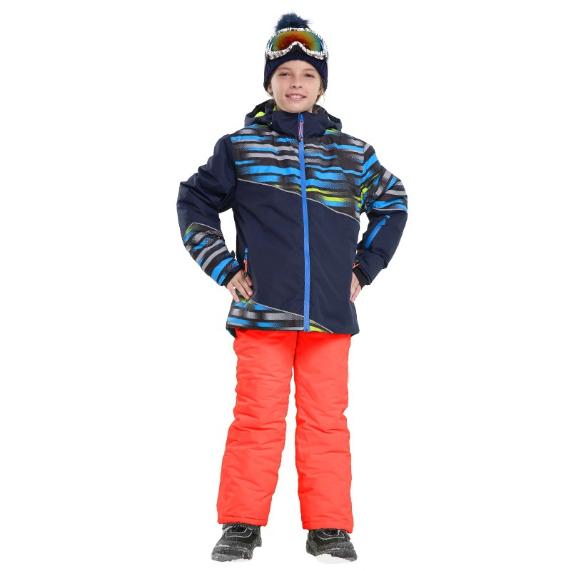 Children ski suit suit Russia kids boys winter clothing set ski jacket+pant for girls snow suit Thick warm jacket 30# new 2017 russia winter boys clothing warm jacket for kids thick coats high quality overalls for boy down