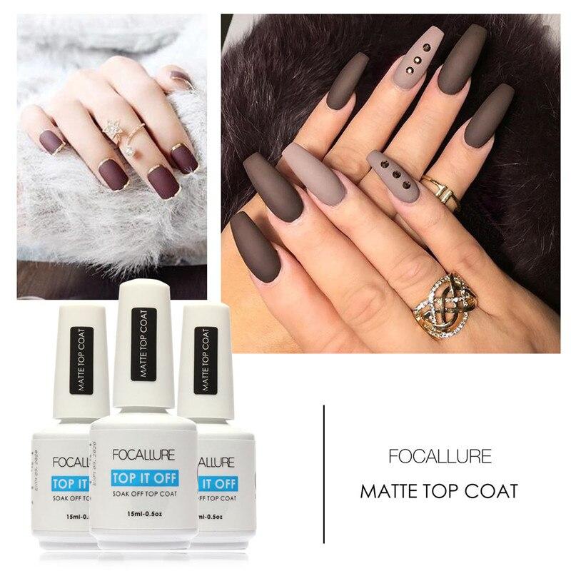 Matte Top Coat Nail Polish Gel Color Semi Permanent For DIY ...