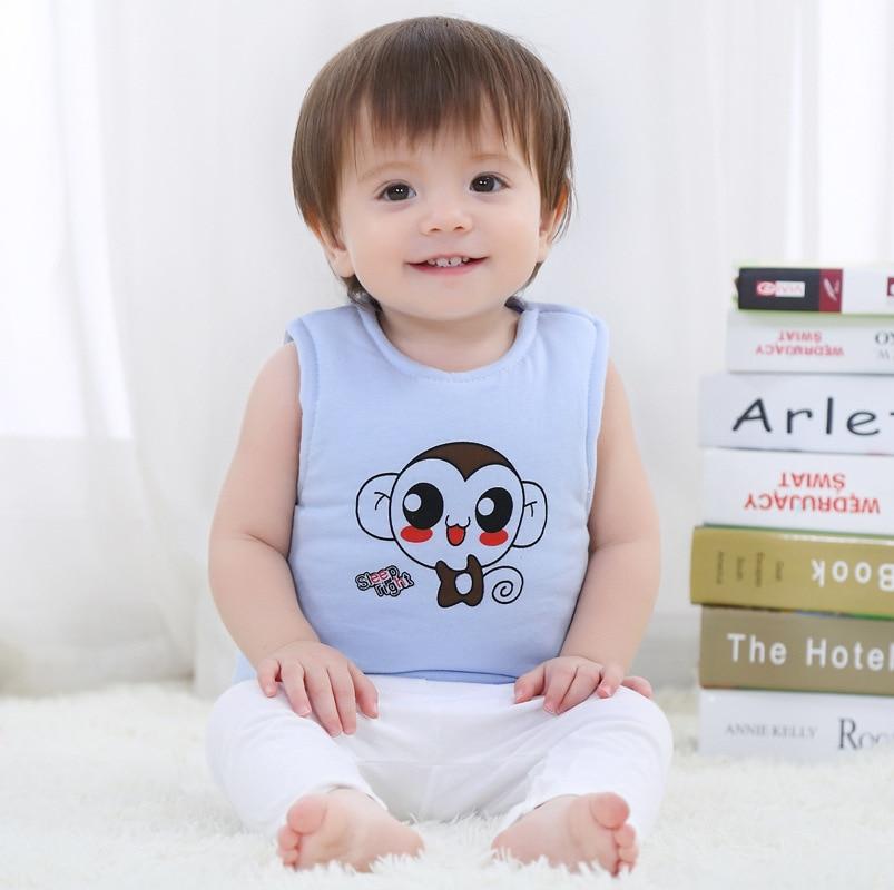 Gewidmet Frühling Neugeborenen Baby Westen Baumwolle Warme Weste Für Baby Mädchen Jungen Unisex Nette Affe Tier Weste Infant Kinder Bebe Oberbekleidung