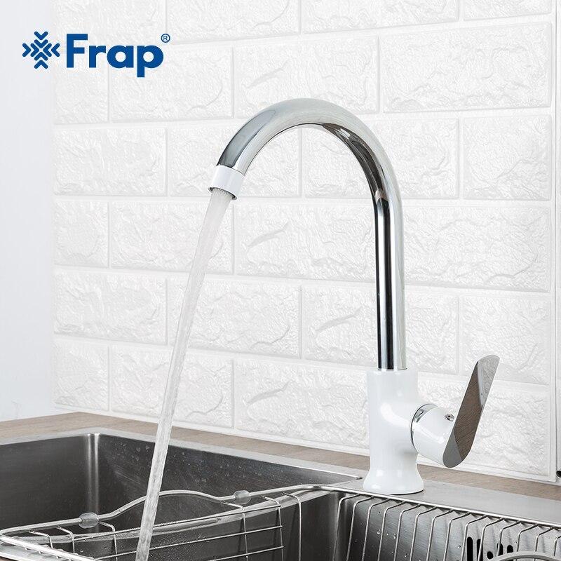 Frap Новое поступление современный модный стиль латунь кухонный кран опционально 3 Цвета 360 градусов вращение torneira cozinha смеситель F4031