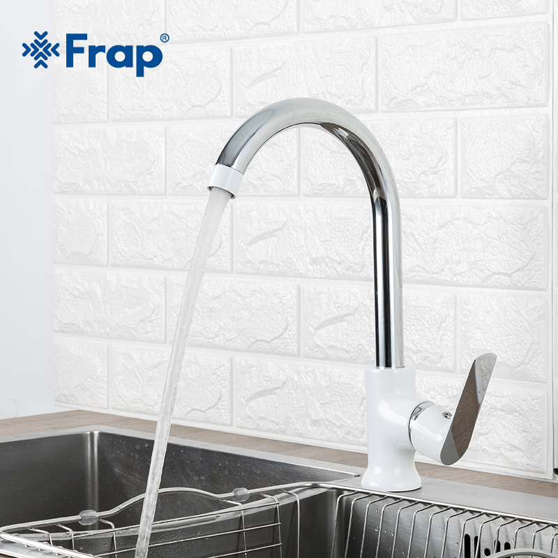 Frap Newly arrived Modern fashion style brass kitchen faucet Optional 3 color 360 degree rotation torneira cozinha mixer F4031