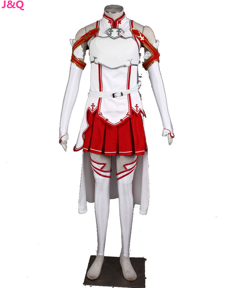 Online coloring halloween - New Woman S Cotton Black Cartoon Cosplay Sword Art Online Dress Halloween Cos With Belt Red Color