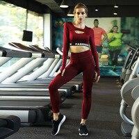 2019 Yoga Set Womens clothing Workout Set Letter 2 piece set Women Sport Suit Women Unique Gym Wear Women Yoga Jumpsuit