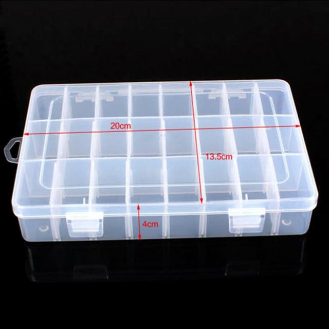 NEW Arrivals Plastic 24 Compartments Ornaments Jewelry Storage Box