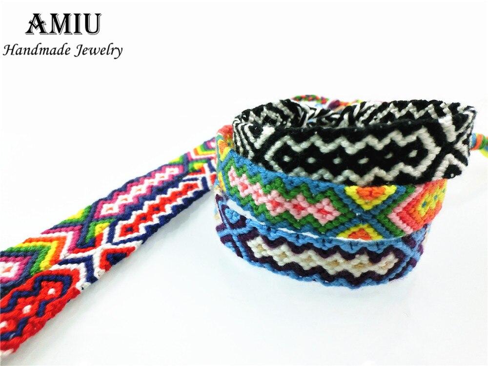 AMIU Friendship Armbånd Dropshipping Personlig Vævet Rope String - Mode smykker - Foto 2