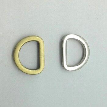 """1/2 """"без каблука литой d-образные кольца, античная латунь/серебряной отделкой"""