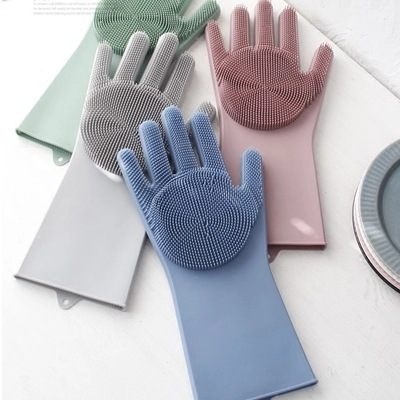 Kitchen Cleaning Silica Gel Washing Gloves Multi purpose Household Magic Silica Gel Washing Gloves|Safety Gloves| |  - title=
