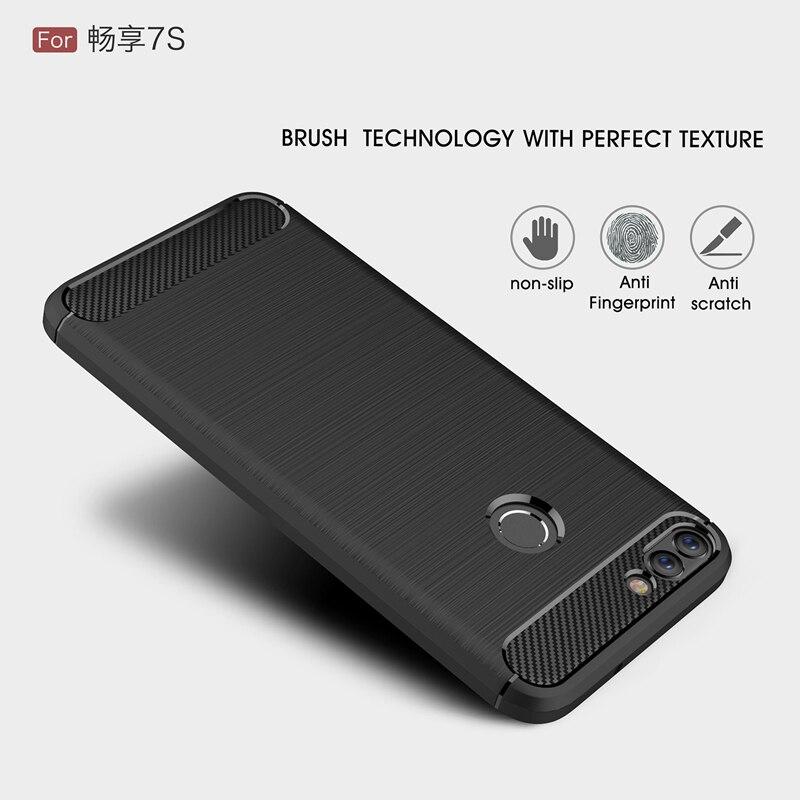 Новинка, модель высокого качества углерода Волокно серии Нескользящие линии волос текстуры ТПУ мягкий чехол для Huawei P smart