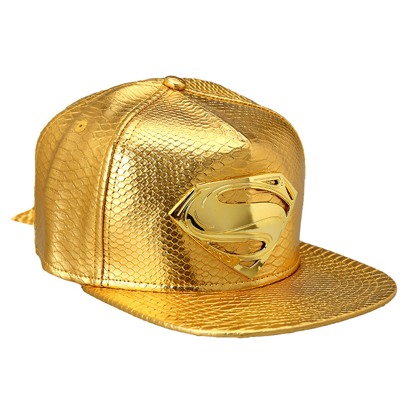 Hot Sale! 2015 Fashion crocodile Baseball Superman Logo Snapback Caps Golden  Hats Luxury Gold hip hop rap Cap for men women gift-in Baseball Caps from  ... 113ce361547