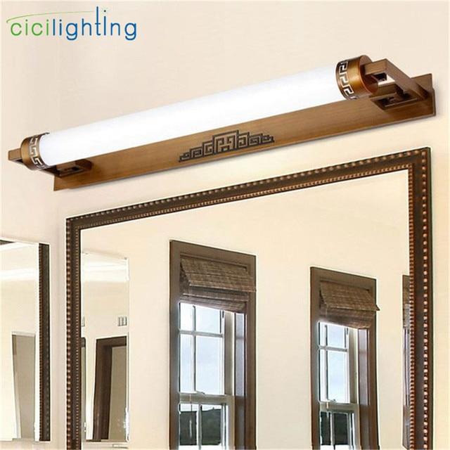 L47cm 67cm 87cm Chinese Style Led Mirror Front Lamps Bathroom Mirror Light  Vanity Light Bronze Black