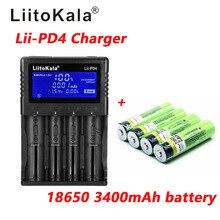 1 шт LiitoKala lii PD4 LCD 3,7 V 18650 21700 зарядное устройство + 4 шт 3,7 V 18650 3400mAh INR18650 34B литий ионные аккумуляторы