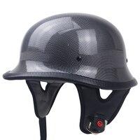 German helmet M35 design half face motorcycle helmet DOT Approved chopper bike helmet adults light weight no mushroon profile
