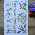 DIY Craft Vine Flower Layering Stencils For Walls Painting Scrapbooking Stamping Album Crafts Decorative Embossing Paper Cards