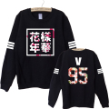 2017 new autumn kpop bts bangtan boys album floral letter printed fans supportive sweatshirt for women pullover fashion hoodies