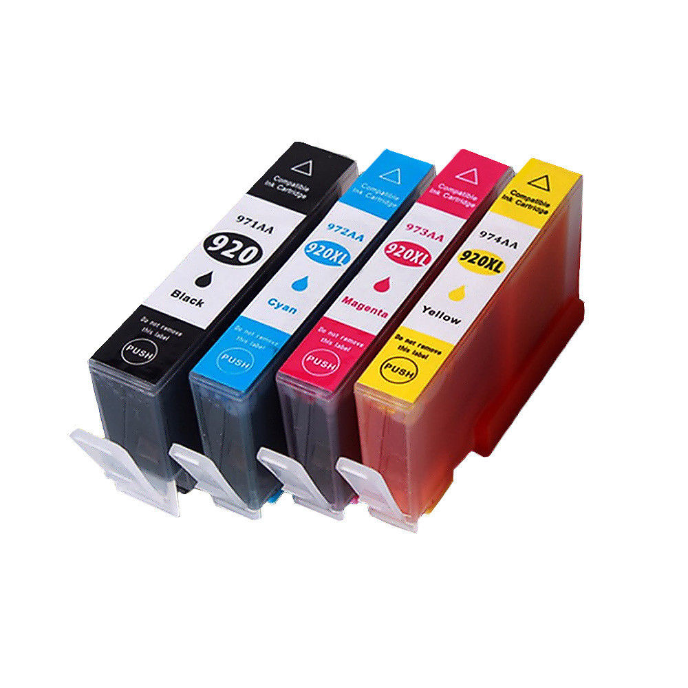 4 Chipped Ink HP920XL Compatible for Officejet 7000A 6000 6500 6500A E609a 7500A E609n