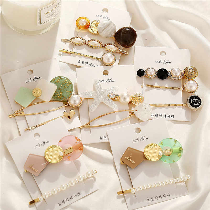 24 Style Fashion Pearl Hair Clip for Women Elegant Korean Design Pearl Metal Hair Clips Hairpin Hair Styling Accessories