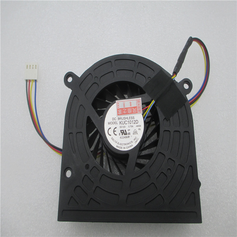 Купить с кэшбэком Cooling Fan For HP PAVILION 20-B014 B100 20 691593-001 KUC1012D AK69 4pin 4wire Server   DC12V 0.75A