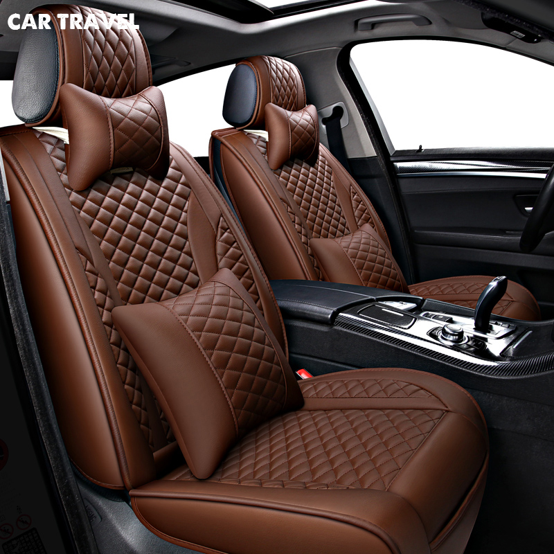 CAR TRAVEL Pu Leather Car Seat Cover For Fiat Albea Opel Corsa D Vw Touareg Mazda 626 Toyota Vitz Prius Seats Protector