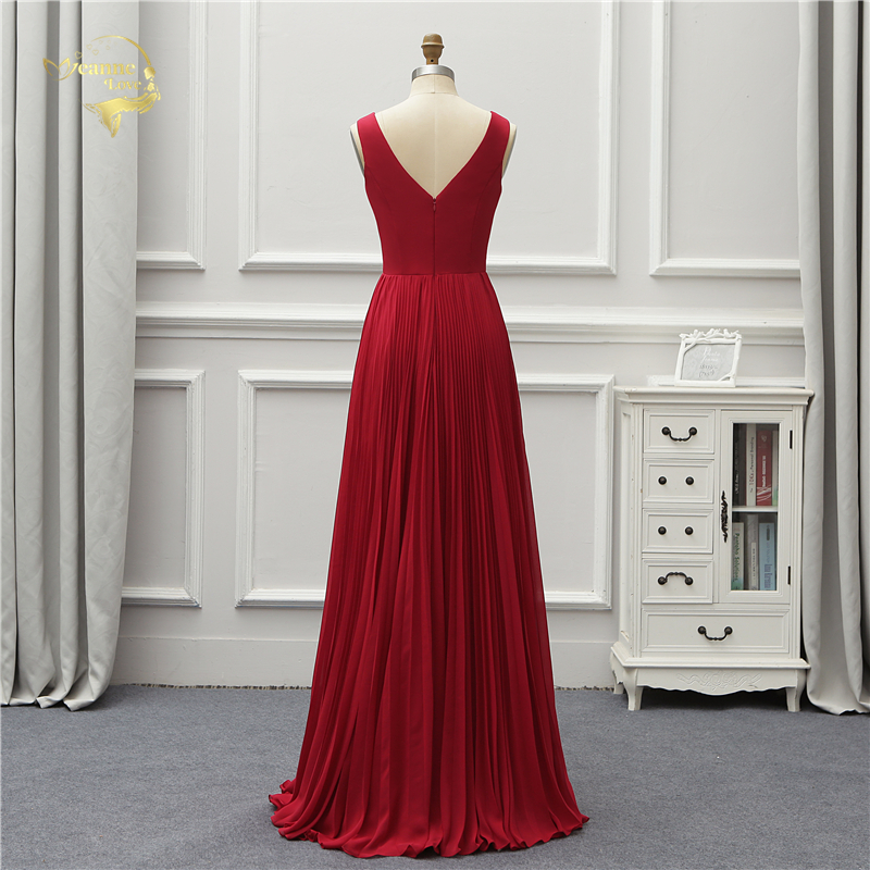 Elegant V Neck Open Leg Evening Dress