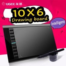 UGEE M708 10×6 дюймов Smart графический планшет для рисования цифровой планшет Подпись Pad рисунок пером для написания картины Pro Дизайнер Wacom