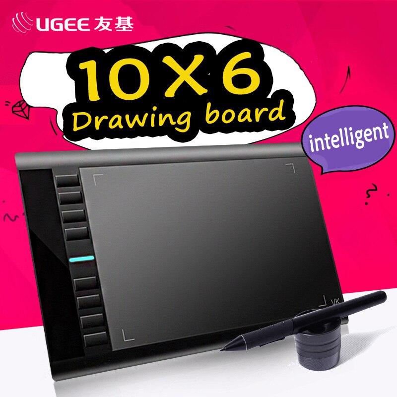 Ugee m708 10x6 zoll smart grafikdiagramm-tablette digitale tablet unterschrift pad zeichenstift für...