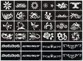 32Design/set Henna Airbrush Tattoo Stencil Free Tribal Tattoos Designs Henna Tattoo Templates TA61