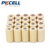 100 × عالية استنزاف 10C الفرعية C NICD SC2200mAh بطاريات قابلة للشحن سطح مسطح PKCELL