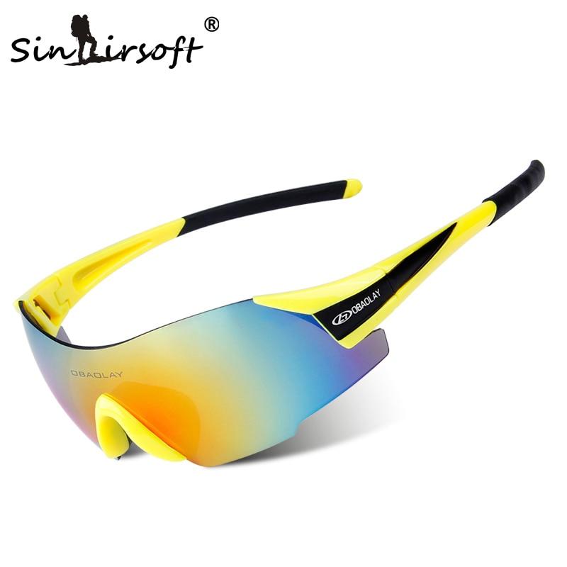 UV400 Sky Fietsbrillen Outdoor Sport MTB Fietsbrillen Motorfiets Zonnebril Sportbrillen Frameloze Brillen Fietsbrillen