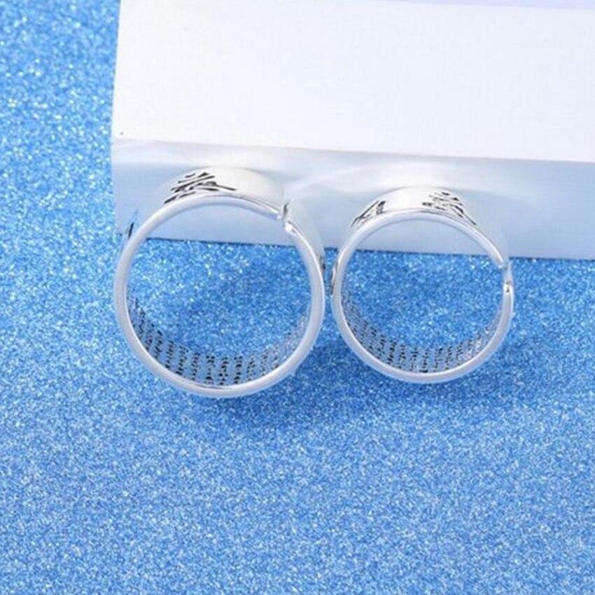 Ma Muster Retro Silber Einfache Ringöffnung Ring Hohl Street Beat Männer Und Frauen Fabrik Großhandel 6 Mm Schmuck & Zubehör 16 Mm