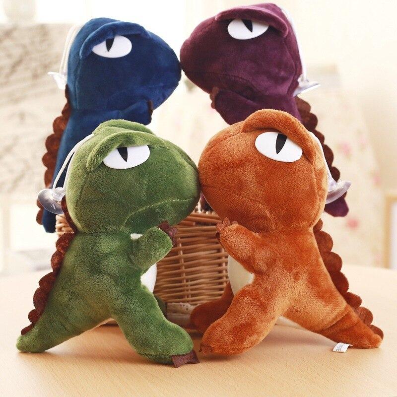 20CM Dinosaur Plush Toy Doll Filled Cartoon Animal Childrens Bag Hanging Ornaments Gift Key Ring Pendant
