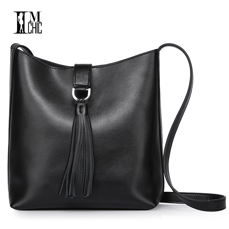 Luxury Split Leather 2017 Tassel Bucket Bag Women Messenger Bags Ladies Cowskin Handbags Casual Woman Crossbody Girl Shoulder retail fashional women leather handbags lady shoulder messenger bags woman tassel ladies hand bag 4 colors