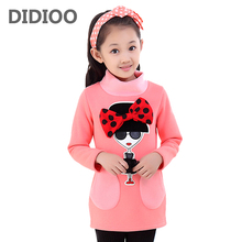 Girls Sweatshirts Cartoon Girl Knitwear Outerwear Autumn Children Cotton Shirt Infants Clothing Kids Warm Clothes Thick Vestidos