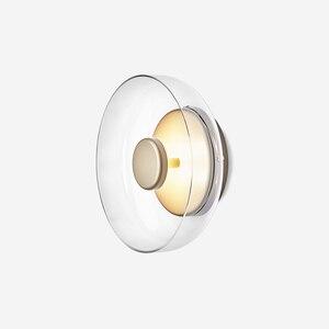 Image 2 - Pós moderna loft vidro conduziu a lâmpada de parede itália designer tigela quarto cabeceira sala jantar estudo decro luminárias frete grátis