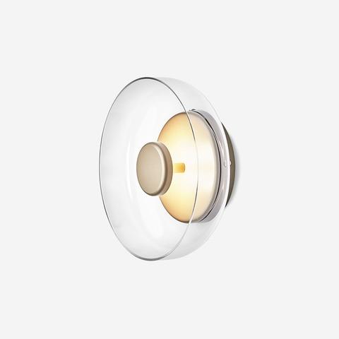 pos moderna loft vidro conduziu a lampada de parede italia designer tigela quarto cabeceira sala