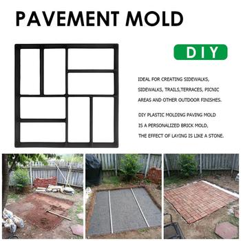 Reusable DIY Garden Walk Pavement Mold Manually Paving Cement Stepping Brick Stone Design Road Concrete Molds Path Paver Maker image