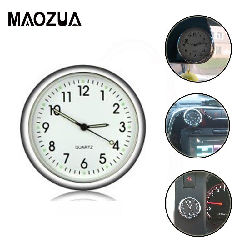 Maozua Car Clock Auto Interior Ornament Mini Clock Air Vent Quartz Electronic Meter Watch Interior In Car Accessories