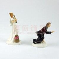Свадебный брак Жених Невеста романтическая пара фигурка Европейский Новый Стиль Свадебные торт Toppers Свадебные украшения
