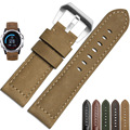 2016 Superior Quality Genuine Leather Watch Band Strap + Lugs Adapters For Garmin Fenix 3 AU3