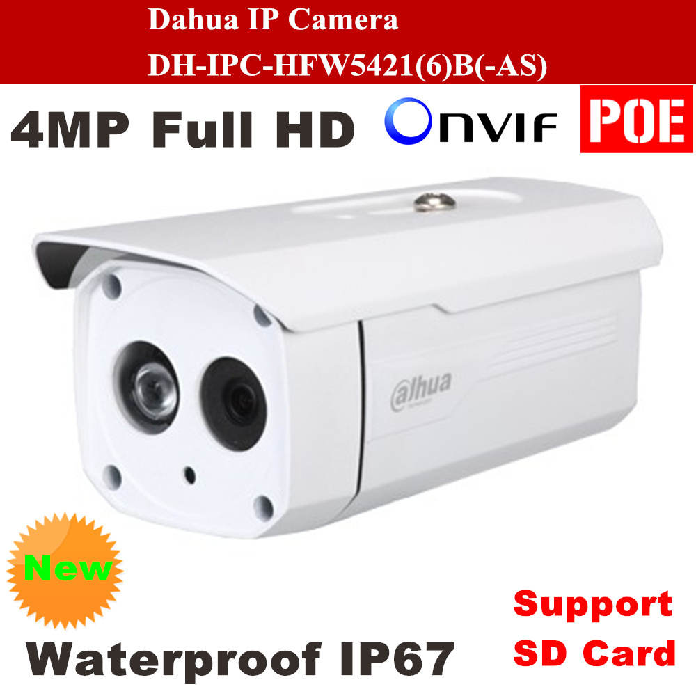Dahua IP Camera DH-IPC-HFW5421B Full HD 4MP Waterproof IP67 Security Camera Support POE Onvif and SD Card IPC-HFW5421B dahua ip camera dh ipc hfw5421b full hd