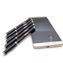 Fashion design stylus logo pens high quality custom printed free with compay logo/address/website/telephone