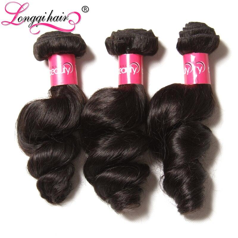 Longqi Hair Brazilian Loose Wave Bundles 3pcs lot 16 26 Inch Natural Remy Human Hair Weaveing
