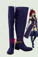 font b Anime b font Fairy Tail Erza Scarlet Blue Boots Party font b Cosplay