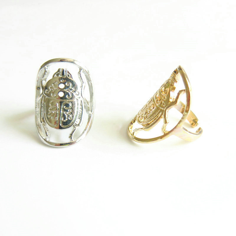 2018 Fashion Jewelry Gold Beetle Ring Insect Ring For Women mariposa en plata anillo