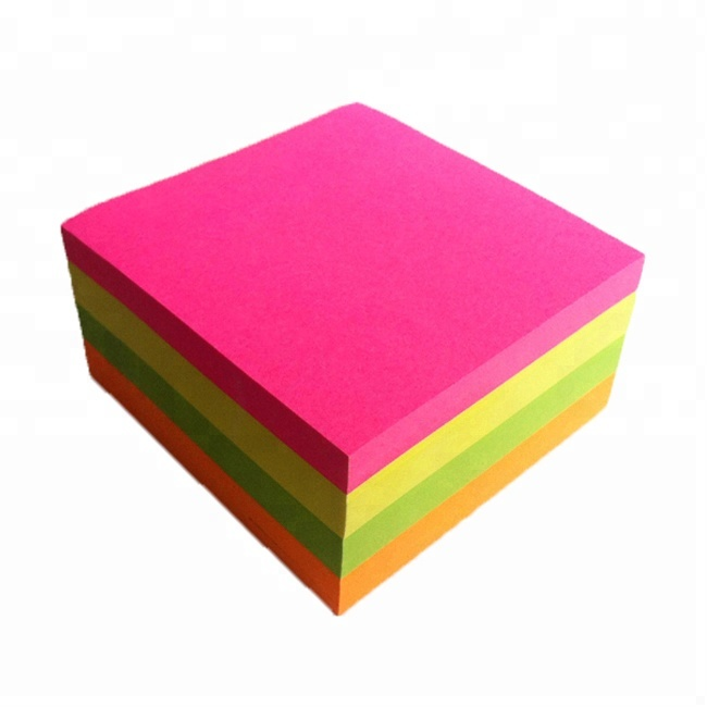 Color 70gsm Fluorescent Paper For Sticky Notes/Origami/Printing From China Factory
