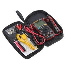 AN8008 AN8009 otomatik aralığı dijital multimetre 9999 adet ile arka işık AC/DC ampermetre voltmetre Ohm transistör test cihazı çok metre