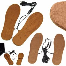 New Hot USB Electric Powered Heated Insoles For Shoes Boots Keep Feet Warm For Women Men(China)