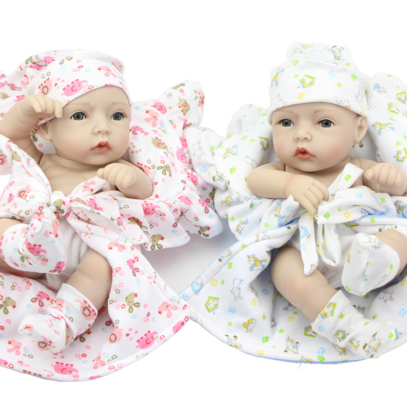 Alive Reborn Babies Twins 11 ⑧ Inch Inch Lifelike Full